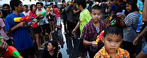 Thailand breekt wereldrecord water gevecht