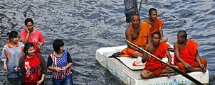 Overstromingen bedreigen Bangkok