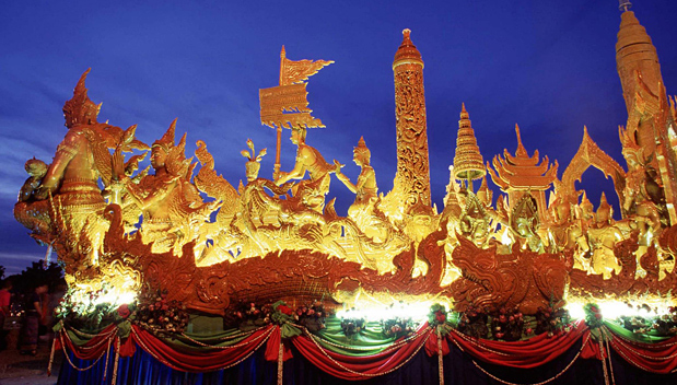 Kaarsenfestival in Ubon Ratchathani