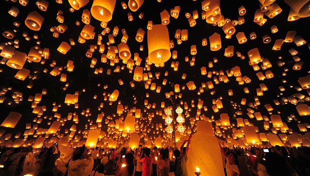 Meer dan 100 vluchten geannuleerd tijdens Loy Krathong in Chiang Mai