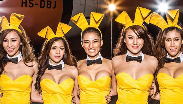 Playboy Bunnies op de Nok Air 2014 Kalender