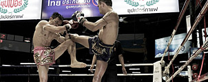 Laatste Muay Thai gevecht in Bangkok's legendarische Lumpinee stadion