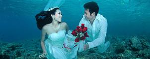 Onderwater trouwen in Trang