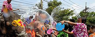 Songkran: zo geniet je van 's werelds grootste watergevecht